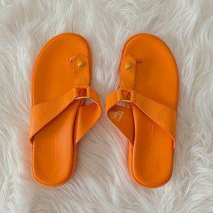 Louis Vuitton Epi Leather Orange Thong Sandals